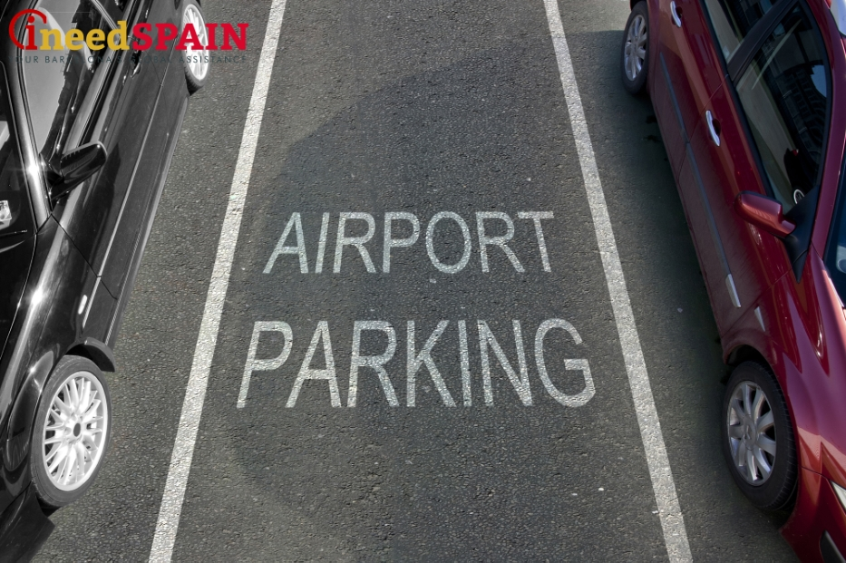 Parking in the airport of Barcelona